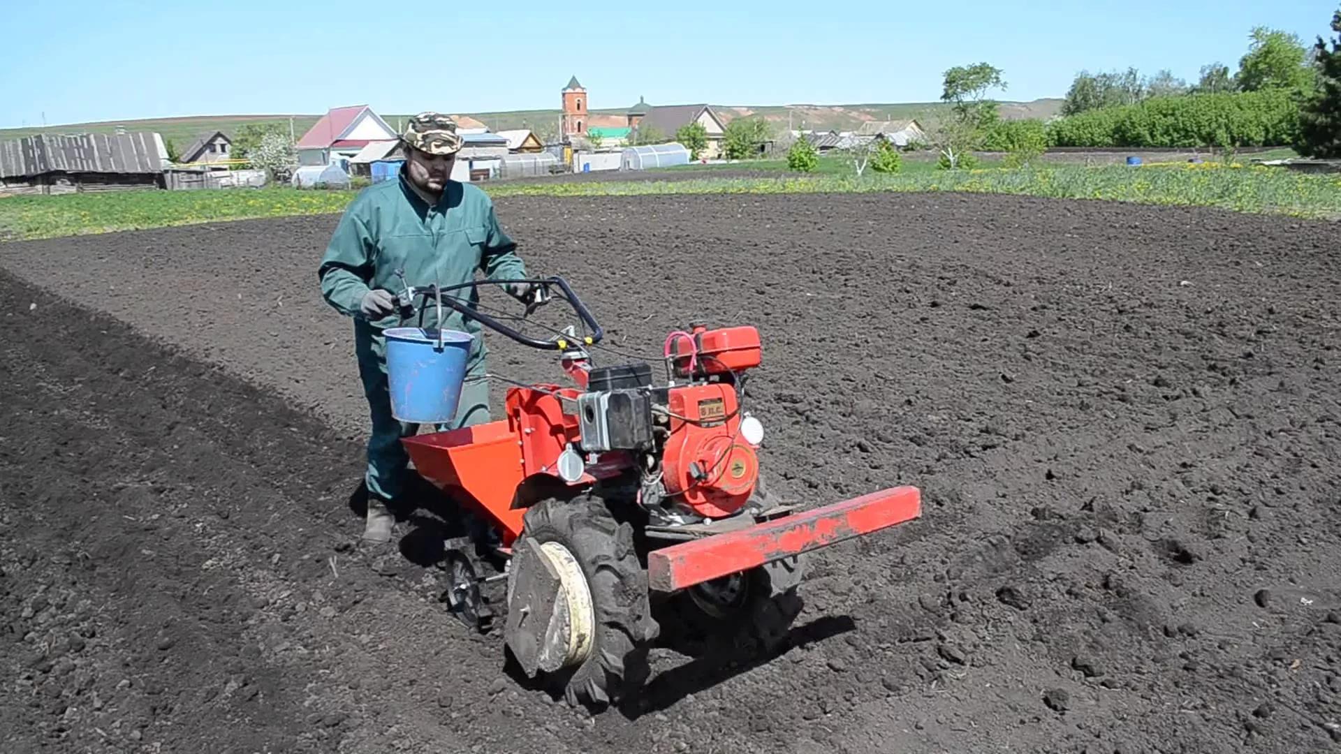 Как посадить картофель под мотоблок