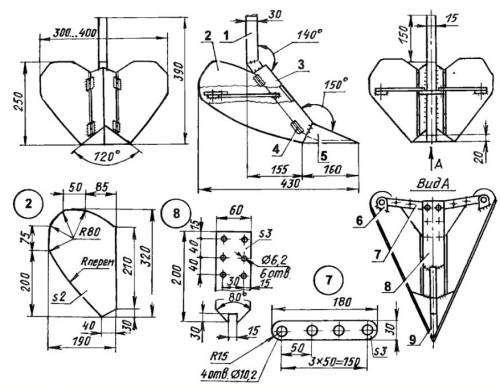 Дисковый окучник для мотоблока своими руками: чертежи и размеры, как сделать роторный сошник и двухрядный культиватор